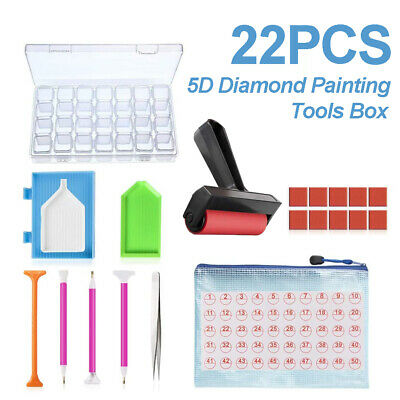 AU18.99 • Buy 22 Piece 5D Diamond Painting Tools Box Diamond Accessories Diy Art Craft Pen Set