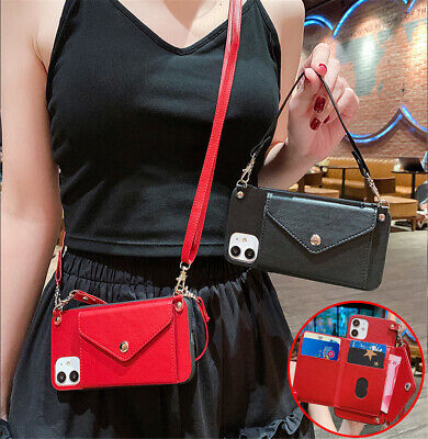 AU14.98 • Buy For OPPO Crossbody Wallet Card Holder Strap Wristlet PU Leather Phone Case Cover