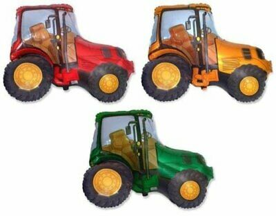 AU10.89 • Buy 3 X Tractor Shaped 26  Foil Balloons - One Of Each Colour
