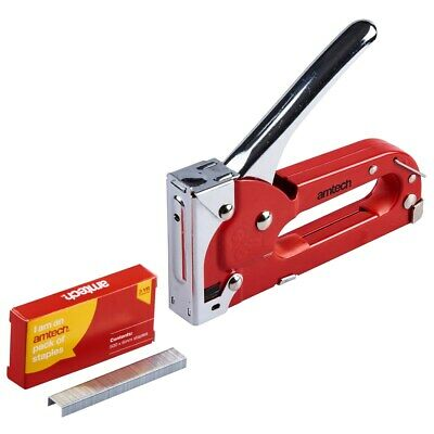 Heavy Duty Upholstery DIY Tacker 4mm To 8mm Staple Gun With 500 6mm Staples • 7.59£