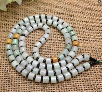 5pcsNatural Jade Emerald Pendant Rope Necklace DIY Jewelry Rope Cord Tied String • 19.14£