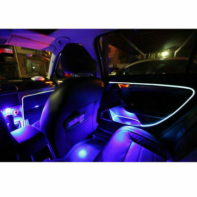 4M Blue LED Car Interior Decorative Atmosphere Wire Strip Light Lamp Accessories • 11.99£