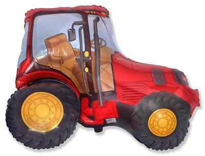 AU5.44 • Buy Red Farm Tractor Shaped 26 Inch Foil Balloon
