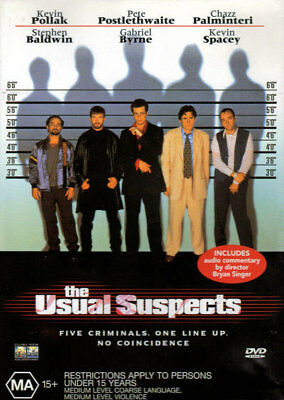 AU5.35 • Buy The Usual Suspects - Kevin Spacey, Gabriel Byrne, Pete Postlethwaite - DVD
