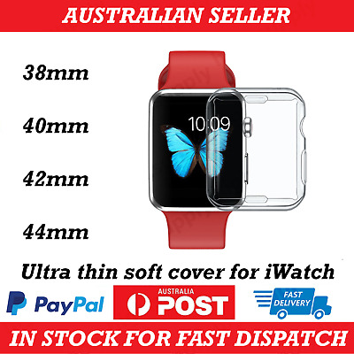 AU6.55 • Buy Apple Watch Series 1/2/3/4/5/6/SE Soft TPU Front Case Cover IWatch 38/42/40/44mm