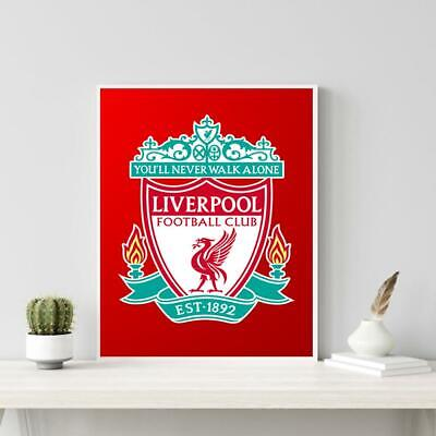 5D DIY Full Drill Diamond Painting Liverpool Embroidery Mosaic Kit Decor Home UK • 5.98£