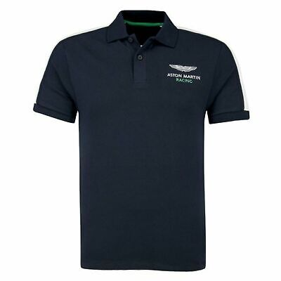 Hackett Aston Martin Racing Polo Top Mens Taped T-Shirt Navy HM562349 595 • 29.99£