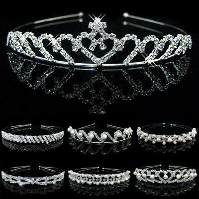 $ CDN4.44 • Buy Wedding Bridal Headband Crown Headdress Pearl Crystal/Princess Hair Accessories