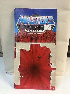 $30 • Buy MOTU, Man-At-Arms Card Back, Masters Of The Universe, Cardback, He-Man, 8-Back