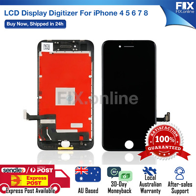 AU23.88 • Buy For IPhone 4 5 6S 7 8 Plus 8 LCD Touch Screen Replacement Digitizer Display S