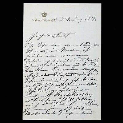£510.43 • Buy 1904 German Royalty Empress Victoria Royal Queen Signed Document Letter Germany