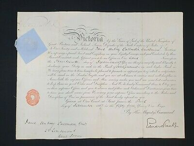 £329.30 • Buy 1915 Royalty Queen Victoria Signed Royal Military Document Manuscript Commission