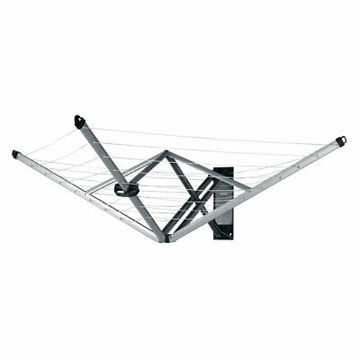 Brabantia WallFix Retractable Washing Line With Fabric Cover, 24 M - Silver • 119.34£