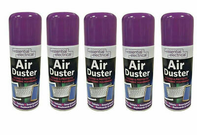5 X 200ml Compressed Air Duster Cleaner Spray Can Protect Laptops Keyboard Mouse • 14.99£