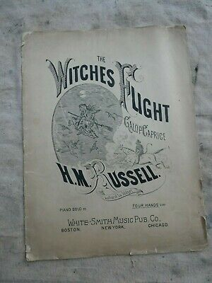 $ CDN13.20 • Buy Rare Early Vintage Halloween Witch Devil Sheet Music 1872 Nice Graphics
