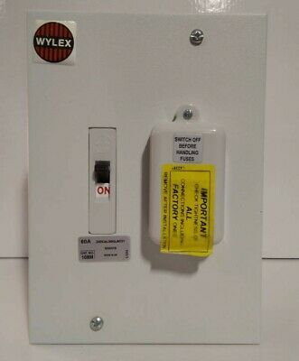 Wylex 108m Metal Clad 1 Way Unit Switched Fuse Housing 60a • 65£