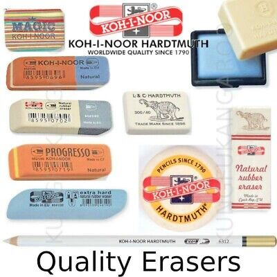 KOH-I-NOOR Erasers Rubbers Pencil Combined Hard Soft Putty Drawing Sketching Art • 2.99£