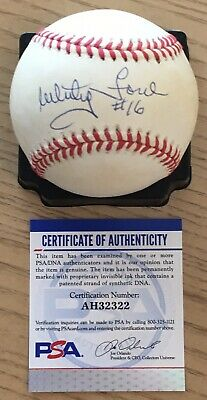$ CDN158.52 • Buy Whitey Ford With #16 Psa/dna Authenticated Signed New American League Baseball