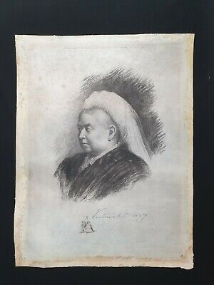 £1253.14 • Buy 1897 Royalty Queen England Victoria Signed Royal Presentation Photograph Etching
