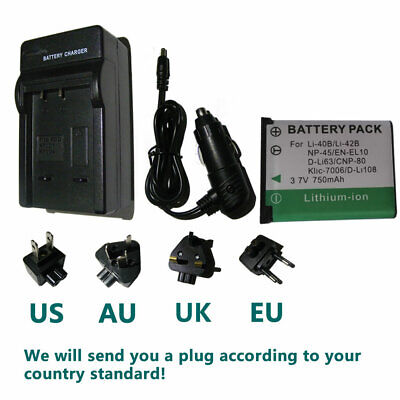 £11.27 • Buy Battery + Charger For Fuji NP-45 NP45A BC45 Fujifilm FinePix XP120 FE-5010