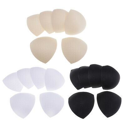 3 Pairs Reusable Sponge Bra Inserts Breathable Breast Pads Swimsuit Replacement • 4.66£