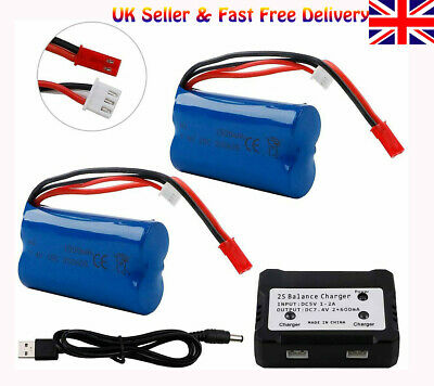 Rechargeable 7.4V 1500mAh Li-ion Battery W/ JST Plug For RC Car Helicopter Boat • 20.38£