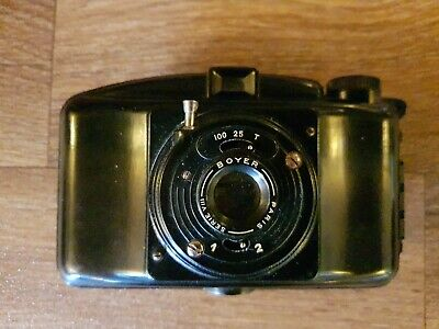 M.I.O.M Photax III Vintage 1940s Art Deco Bakelite French 620 Roll Film Camera • 4£