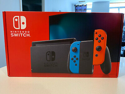 $ CDN499.99 • Buy Nintendo Switch Console- Black With Neon Blue And Neon Red Joy-Controller