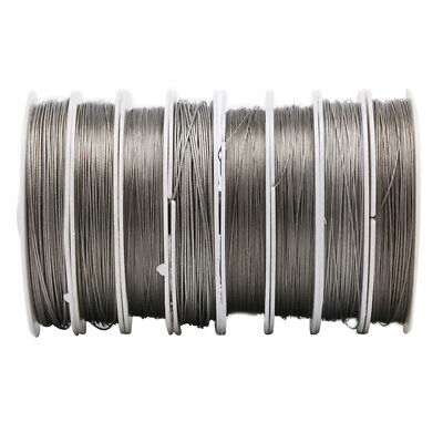 Stainless Steel Craft Wire Many Sizes Coil Accessory Beading DIY Jewel H  QoPTUK • 3.31£