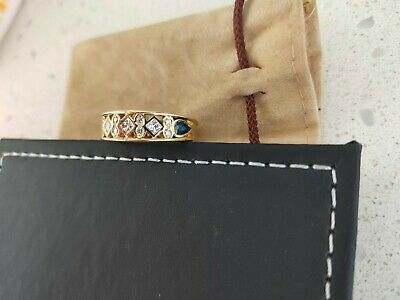 AU500 • Buy 18ct Yellow Gold Diamond And Sapphire Ring
