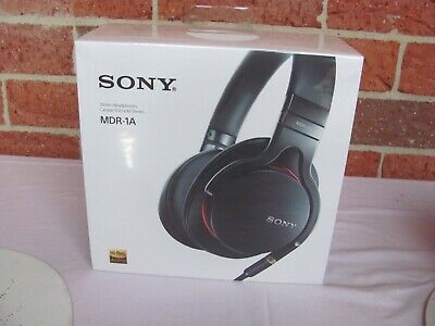 AU339 • Buy Sony MDR-1A MDR 1A Premium Hi-Res Over Ear Stereo Headphones BLACK