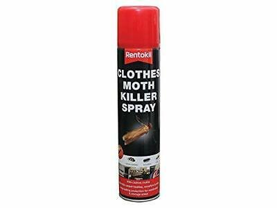 Moth Repellent For Wardrobes Clothes Moth Killer Aerosol Spray Transparent Pest • 5.31£