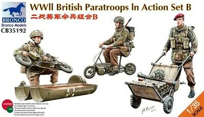 Bronco Models CB35192 1:35th  WWII British Paratroops In Action Set B Welbike • 33.99£