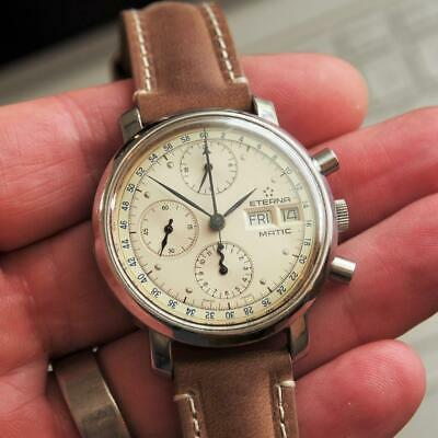 C1990 ETERNA-MATIC 38mm Day-Date Chronograph Lemania 5100 Automatic Gents Watch • 1,575£