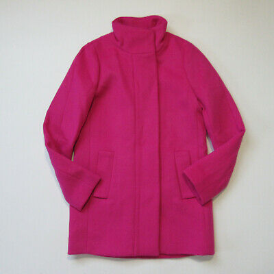 AU98.24 • Buy NWT J.Crew Factory Cocoon City Coat In Fuchsia Blossom Pink Wool Jacket 00