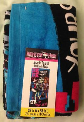 Monster High Beach Towel_Be Yourself_Draculaura_Clawdeen_Frankie_100% Cotton • 12.37£