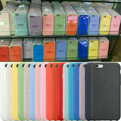 AU6.59 • Buy Original Silicone Super Thin Case For IPhone 12 11 Pro Max X XS XR 8 7 6S Plus 5