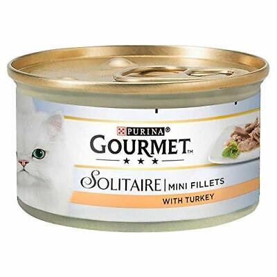 BEST Solitaire Wet Cat Food Premium Fillets With Turkey In Sauce 85 G Pack Of 1 • 11.45£