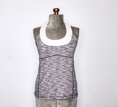 $ CDN35 • Buy Lululemon Grey And White Heathered Acoop Me Up Active Wear Tank Top Size 12