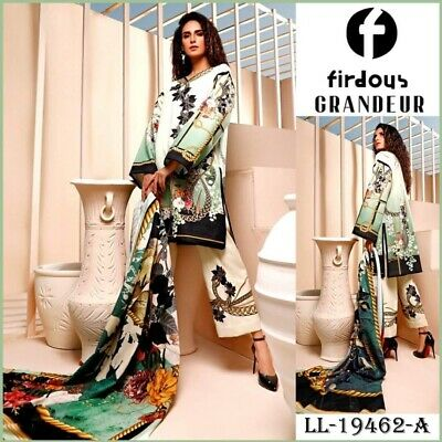 Firdous Lawn 3piece Suit With Shafoon Duppata 2020 Summer And Eid Collection • 29.90£
