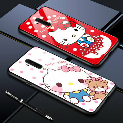 AU5.98 • Buy Cover For OnePlus 8 Pro 7T Pro 6T 5T KT Hellokitty Cat Tempered Glass Skin Case