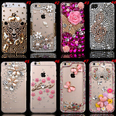 3D Bling Handmade Crystals Diamonds Soft Clear Phone Cases Cover For Alcatel • 5.99£