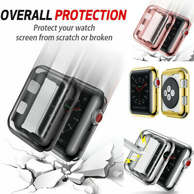 AU4.69 • Buy 38 42mm Hard PC Full Body Case Cover Screen Protector For Apple Watch Series 3