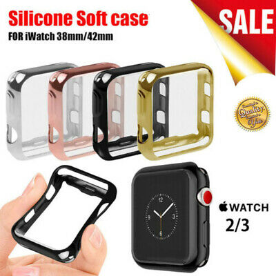 AU5.99 • Buy IWatch Screen Protector Soft TPU Case Cover Bumper For Apple Watch Series 2/3