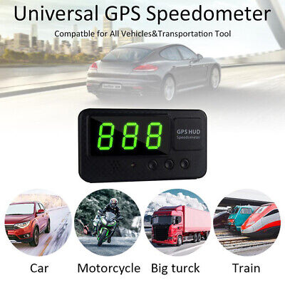 UK Digital GPS Speedometer HUD MPH / KM/h Overspeed Warning For Car Motorcycles • 16.98£