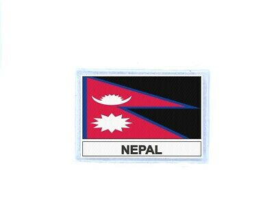 Patch Badge Iron On Glue Flag Country NEP Nepal • 2.75£