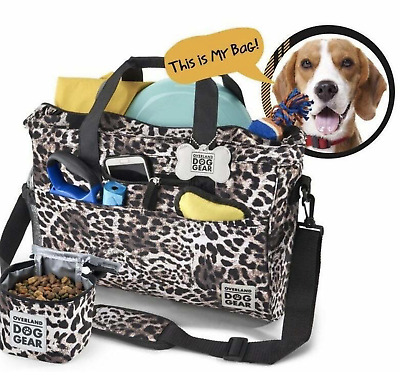 $ CDN65.34 • Buy Dog Or Cat Luggage  Day Away Tote  Pet Travel Bag Cheetah + 3 Cup Food Container