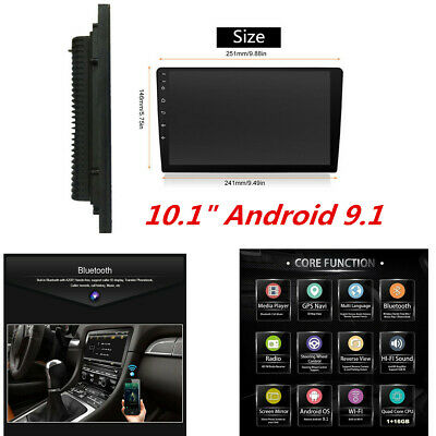$ CDN156.65 • Buy 10.1  2Din Android 9.1 Car 1080P Quad-core Touch Screen Stereo Radio Wifi GPS