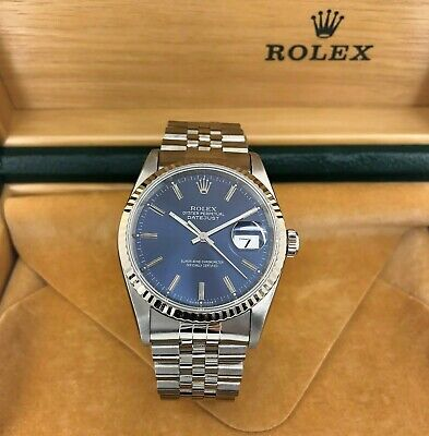 $ CDN7927.38 • Buy Rolex 36MM Datejust Watch 18K White Gold Stainless Steel Ref #16234 Box Papers