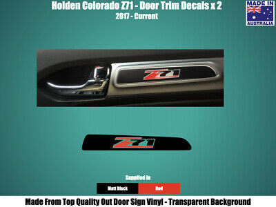 AU7.95 • Buy HOLDEN COLORADO Z71 - DOOR TRIM DECALS STICKERS - BLACK & RED X 2